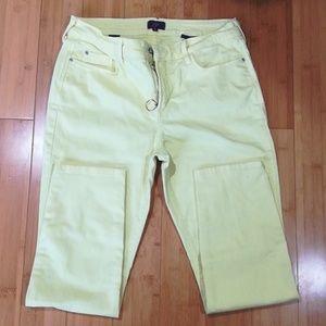 NYDJ Neon Yellow Ankle Pants